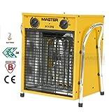 Master Elektro Heizlüfter B 9 EPB 9 kW, 400 V, 3 Heizstufen mit 1,8 m Kabel, 1 Stück, gelb, 4012008