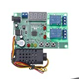 LaDicha Tablero De Control De Temperatura Y Humedad Am2301 Módulo De Sensor Controlador 5V ~ 24V DC 10A