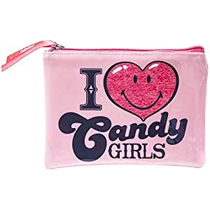 Promobo -Pochette Maquillage Trousse De Toilettes Licence Smiley World Love Candy Rose