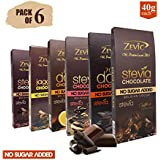 ZEVIC Chocolate Assortment - Pack Of 6 (Dark+Orange+Classic+Jaggery+Roasted Almonds+Roasted Coffee Beans)