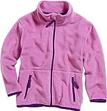 Playshoes Mädchen Jacke Fleece farbig abgesetzt, Rosa (pink 18), 116