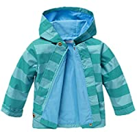Arshiner Girls Baby Waterproof Hooded Winter Rain Coat Jacket Outwear Trench (90(Age for 1-2Y), Blue)