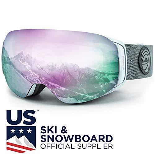 Wildhorn outfitters maschera da sci & snowboard roca - maschera da neve premium per uomini, donne e bambini. con sistema di cambio lenti magnetico, rapido e clip integrata.