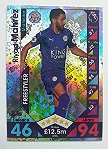 Topps Match Attax 2016/2017 Riyad Mahrez (Leicester City) Freestyler 16/17 Trading Card by Match Attax 16/17