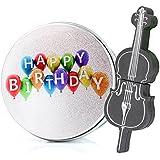 anvor® cumpleaños 16G silicona negro violonchelo música dispositivo de almacenamiento de datos USB Memory Stick unidad flash y caja de metal de embalaje, de la novedad lindo regalo/presente