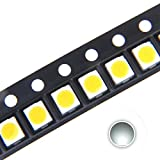 Chanzon 100 pcs 3528 (1210) White SMD LED Diode Lights Chips (Surface Mount PLCC 3.5mmx2.8mm DC 3V 20mA 7-8LM) High Intensity Bright Lighting Bulb Lamps Electronics Components Light Emitting Diodes