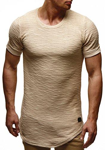 49a46b8856fc LEIF NELSON Herren oversize T-Shirt Hoodie Sweatshirt Rundhals Ausschnitt  Kurzarm Longsleeve Top Basic Shirt ...