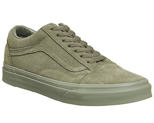 Vans U Old Skool–Baskets Unisexe Adulte Vert olive/daim (Burnt Olive Suede Exclusive)