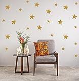 Or étoiles Stickers muraux Sticker de Noël Chambre des Enfants Vinyle Art Maison Spots Mural Polka Dots Décor