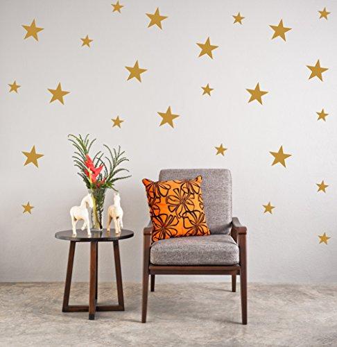 Oro estrellas Pegatinas pared Calcomanía navidad