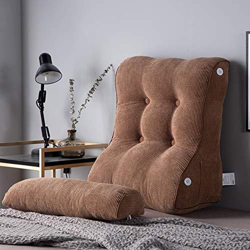 WWDS Dreieckiger Keil Kissen,Taille Bett Kissen,Bett Kissen Sofa Großes Back-pad,abnehmbare Bettlehne Einstellbare Flip Kissen-t -