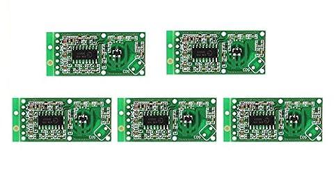 WINGONEER 5PCS Mikrowellen-Radarsensor RCWL-0516 Schalter-Modul menschlicher Induktions-Brett-Detektor