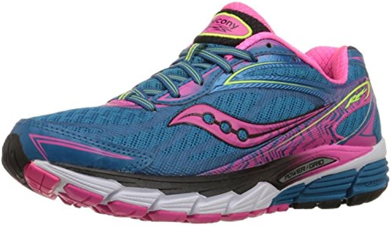 Saucony Women's Ride 8 Running Shoe, Deepwater/Violet/Slime, 35.5 B(M) EU/3 B(M) UK