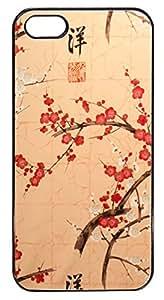 Coque Iphone 5/5S - Cerisier japonais signe chinois japonisant - Ref 244