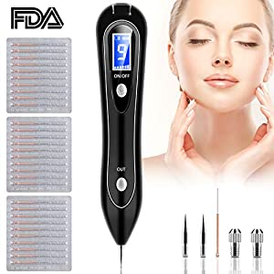 Skin Tag Remover, Leestar Mole Remover with 9 Strength Levels &LED Spotlight, Portable Rechargeable Removal Pen for Wart, Freckle, Nevus, Dark Spot and Small Tattoo