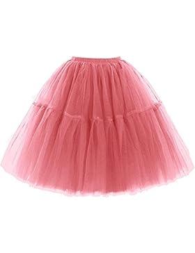 SCFL adulto de lujo suave de la gasa de la enagua de tul falda del tutú de las mujeres del tutú del ballet del...