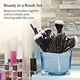 USpicy US-MB03 Makeup Brushes Cosmetics Professional Essential 32-Piece Make Up Brush Set Kits with Travel Pouch(Black) Bild 4