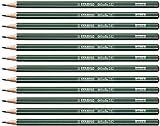 Crayon graphite - STABILO Othello - Lot de 12 crayons graphite 4H avec tête trempée