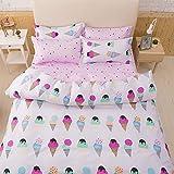 Bettbezug Set, 3 Stück Super Weiche und Angenehme Mikrofaser Einfache Bettwäsche Gemütlich Enthalten & Kissenbezug Betten Schlafzimmer