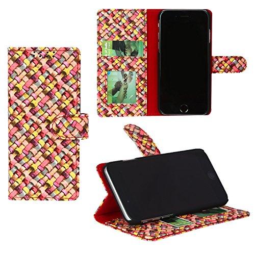 Dsas Artificial Leather Flip Cover for Lenovo Phab 2(BWFC-Diamond-RED)