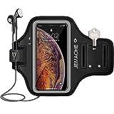 iPhone XS Max Fascia da Braccio, JEMACHE Palestra Corsa/Esercizi Sport Fascia di Bracciale per iPhone XS Max (6,5) Nero