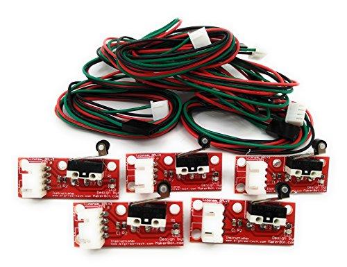 Turmberg3D - Mechanische Endschalter mit LED Indikator und Kabel für RAMPS 3D-Drucker RepRap Mendel Prusa Anet A8 A6 Makerbot Mega 2560 1280 CNC Arduino (Endstop mit Rad, 5) Mechanische Endschalter