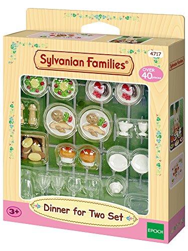 Sylvanian Families - 4717 - Mobilier De Poupée - Set De Diner Pour Deux