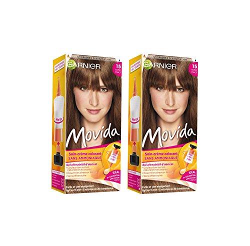 Garnier - Movida - Coloration temporaire sans ammoniaque Blond - 15 Blond Foncé Lot de 2