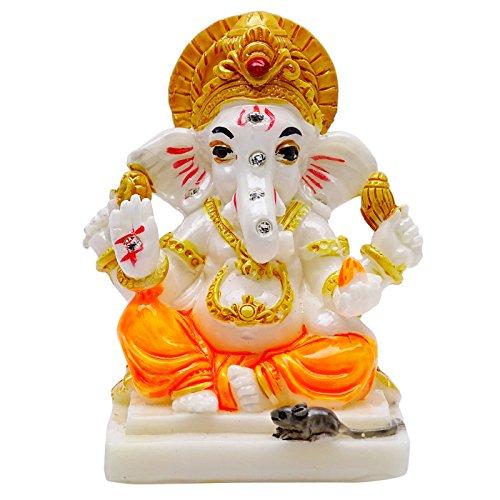 Lord Ganesha Poly Marmor-Statue Religiöses Geschenk Auto-Büro-Tischdekoration (Autos Tischdekoration)