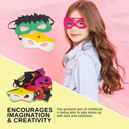51XO54zZXNL - Ventdest Máscaras de Superhéroe, Suministros de Fiesta de Superhéroes, Máscaras de Cosplay de Superhéroe, Máscaras de Media Fiesta para Niños o Niños Mayores de 3 Años - 32 Piezas