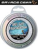 Savage Gear Soft Fluorocarbon Schnur 0,60mm 20m 21,6kg Angelschnur monofil, Fluoro Carbon Schnur, Vorfachschnur, Leader für Vorfächer