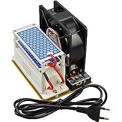 Aozzy Portable Ceramic Ozone Generator 220v con ventilador filtro de olor de disipación de calor (10g)