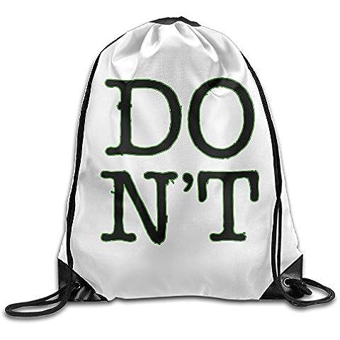 Canace Ed Sheeran Dont deportes al aire libre cordón bolsas mochila, Blanco, talla única