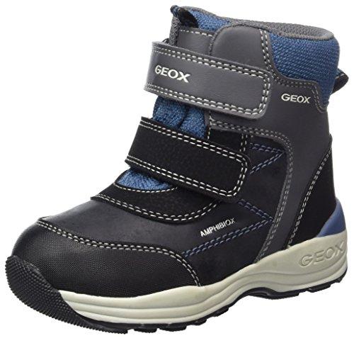 Geox Baby Jungen B New Gulp Boy B ABX A Stiefel, Grau (Dk Grey/Avio), 23 EU