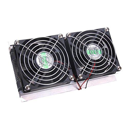 Thermoelektrische Peltier Kühlung Cooling System Kit Kühler Double Fan DIY