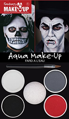 Makeup Dracula/Skull Aqua Make Up Halloween Cosmetic Artist
