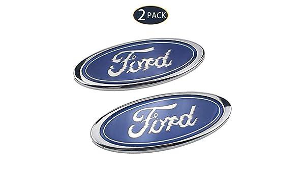 pour F-ORD Old Mondeo Fox Fiesta Refit Accessoires XCBW Pack de 2 embl/èmes de Logo de Voiture Badge de calandre//hayon