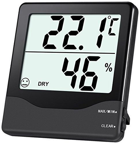 Oria Digital Hygrometer Thermometer, Indoor Humidity Monitor, Home Thermometer Meter with 4in LCD Screen, MIN MAX Record, Comfort Indicators, Room Thermometer