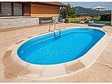 GRE Madagascar KPEOV8059 Pool, Stahl, oval