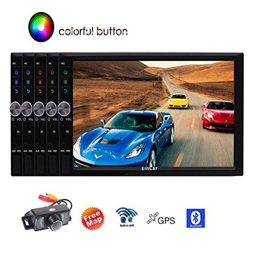 EINCAR RuneScape Designed Android 7.1 Nougat Version Auto-Stereo-Player in Dash GPS Navigator Quad-Core-1 GB RAM 16 GB ROM Radio Stereo-System HD 1080P Video WiFi/Bluetooth/USB/SD/Back-Cam