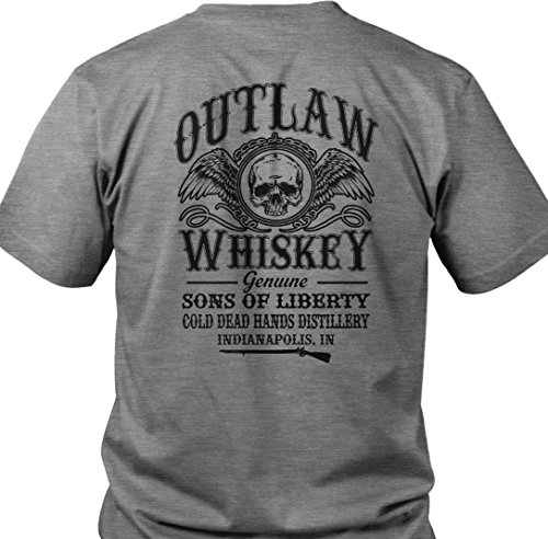 HIPI GOX Outlaw Whiskey. Cold Dead Hands Distillery. Black T-Shirt. Made in USA