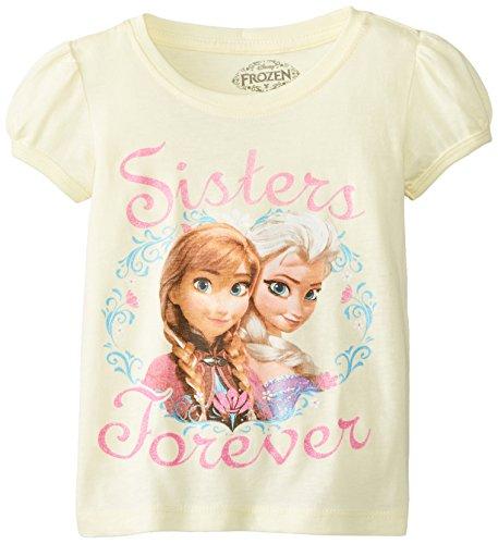 Disney Frozen Anna and Elsa Sisters Forever Kleinkind Gelb T-Shirt | 4T (Anna Frozen Shirt Kleinkind)