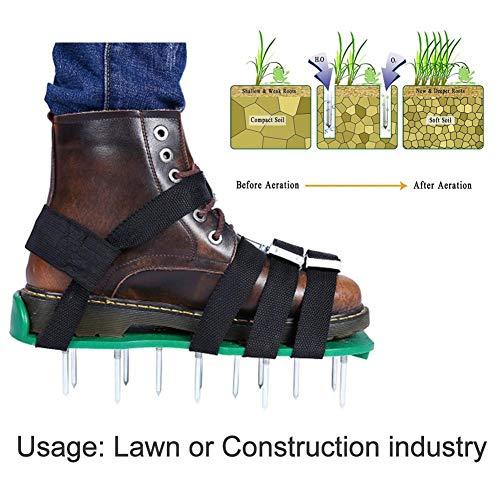 Hearthrousy Rasenbelüfter Sandalen Handvertikutierer Rasenlüfter Schuhe Nagelschuhe Rasen Vertikutierer Nagelschuhe für Dein Rasen Oder Hof für Haus und Garten