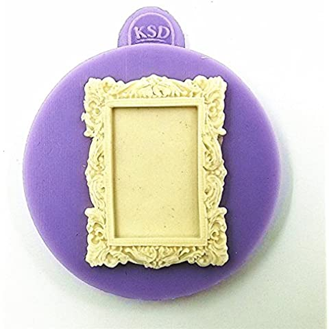aliciashouse Square Frame fondente stampo stampo in silicone torta decorazione