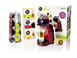 Krups KP120BUN NESCAFÉ Dolce Gusto Mini Me Coffee Machine Starter Kit, Red/Black