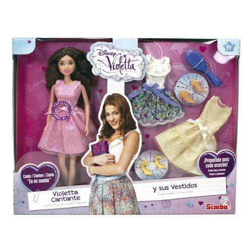 Violetta - Cantarina y sus vestidos, muñeca, (Simba 5730364)
