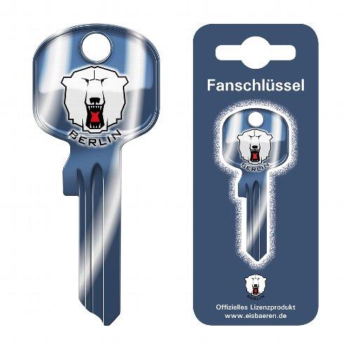 Fanschlüssel Schlüsselrohling Schlüsselanhänger Fanartikel Schlüsseldienst EHC Eisbären Berlin