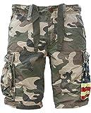 JET LAG Cargo Shorts SO16-22 army green camouflage USA, Größe:W32