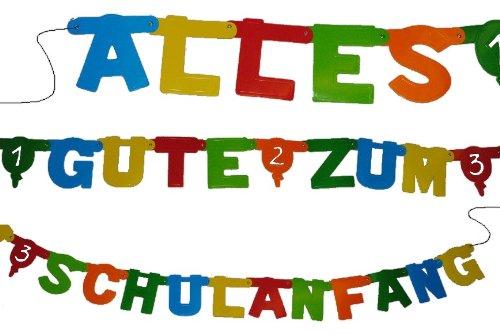 "2,8 m Girlande \"" Alles Gute zum Schulanfang \"" - Kinder Party Schuleinführung Schule Schulbeginn Fest - Dekoration - Einschulung"