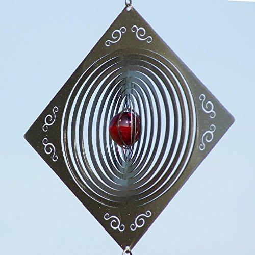 Mobile en acier inoxydable - Q-Target 160 - Dimensions : 22,5 x 22,5 cm - incl. Système d'accrochage et bille de verre